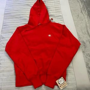 Red Champion Reverse Weave Hoodie